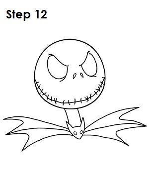 How to Draw Jack Skellington Step 12 | Desenhos ❤ | Pinterest ...