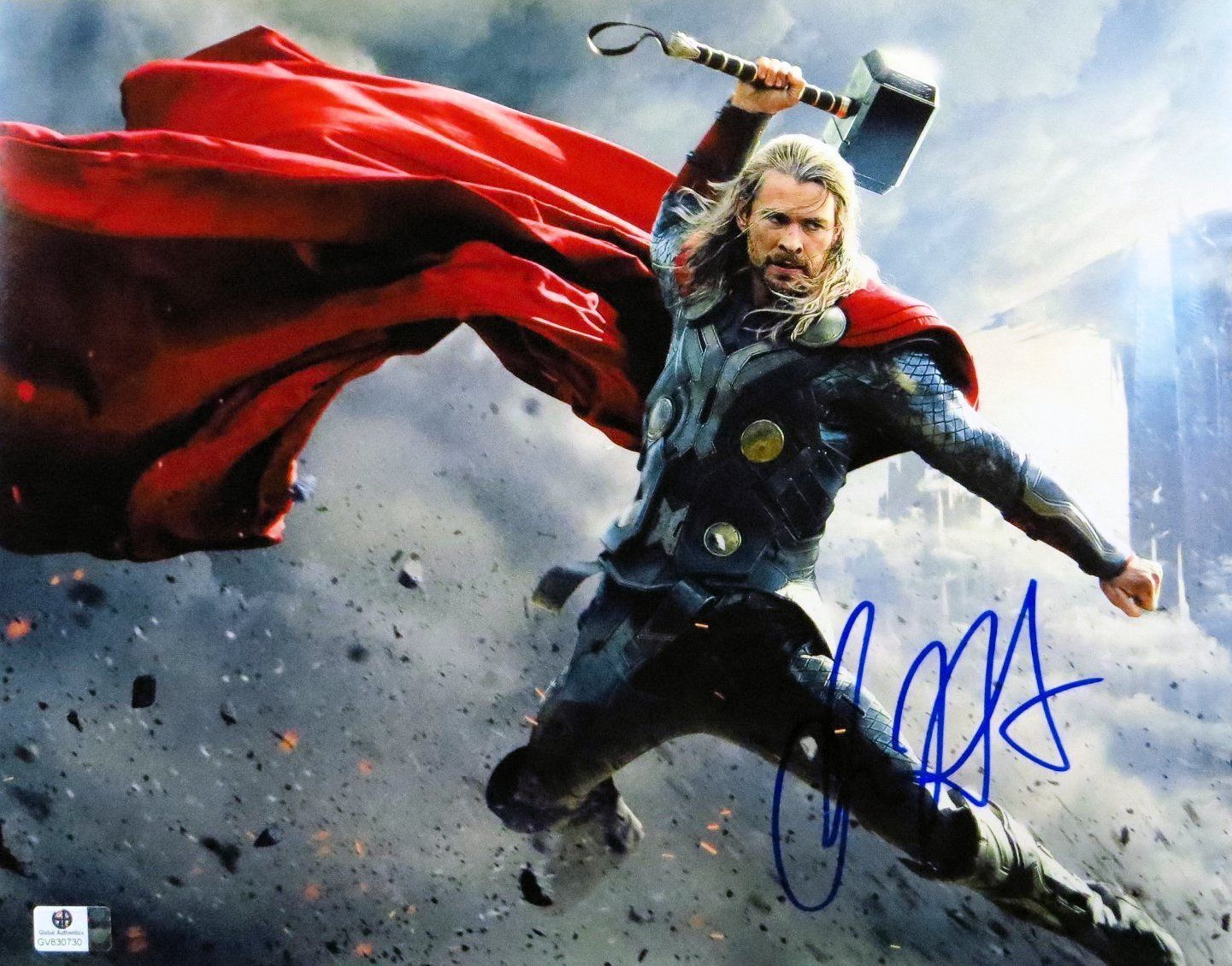 Finally framed and on the cave wall, with COA. Thor