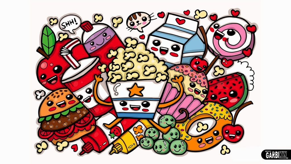 Coloring Pages Cute Food Kawaii Doodles Cool Doodles Doodle Art