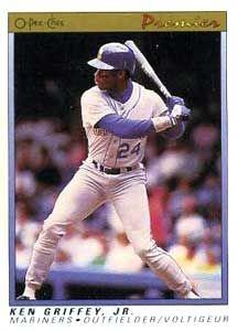1991 O Pee Chee Premier Baseball Card Checklist Baseball Cards Baseball Griffey Jr