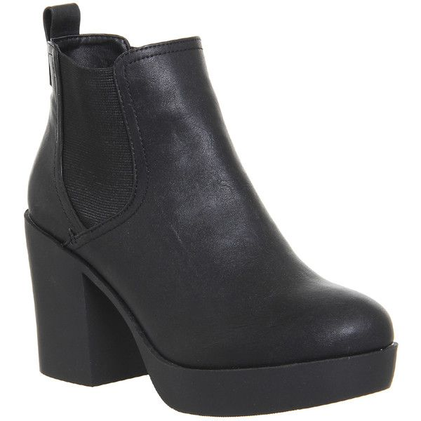 Office Jiggy Chunky Womens Ankle Boots Black