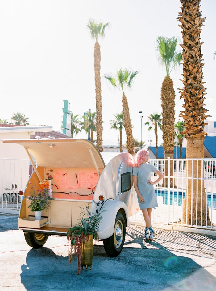 Flora Pop's Pop Up Wedding Chapel Trailer in Las Vegas ...