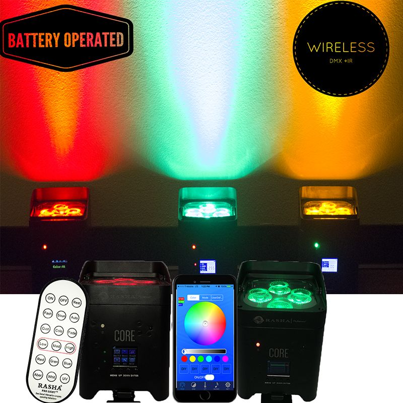 Nice Promo 10x Rasha Core Hot Sale 418w 6in1 Rgbaw Uv Battery Operated Wireless  Led Par Light