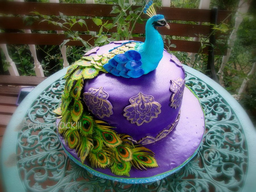 Peacock By CakesRock  CakesDecorcom Cake Decorating Website - Peacock birthday cake
