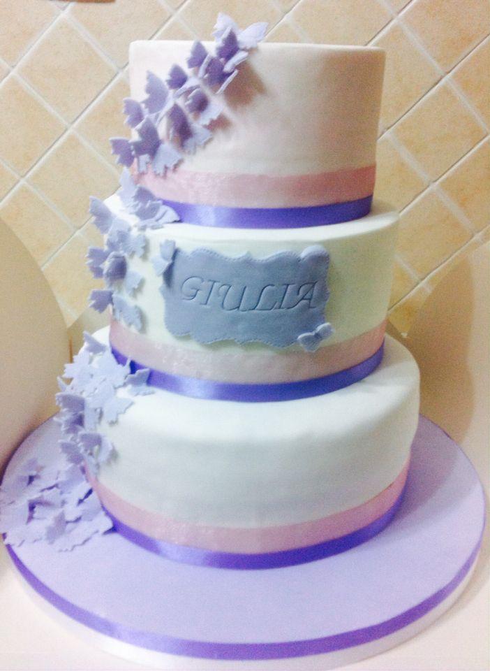 A butterfly flying cake, torta volo di farfalle , glicine