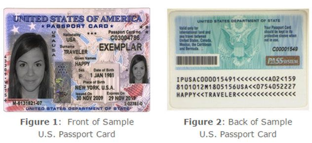 Sample Passport Card Photo U S State Dept With Images