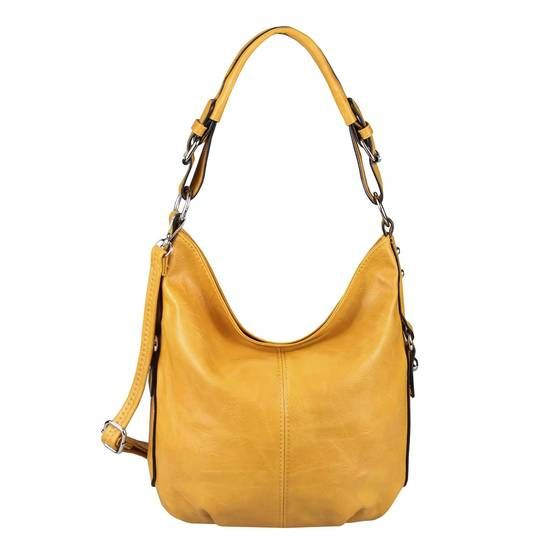 Photo of OBC WOMEN'S BAG SHOPPER Hobo-Bag Shoulder Bag Shoulder Bag Handbag CrossOver CrossBag Leather Look Bucket Bag Yellow