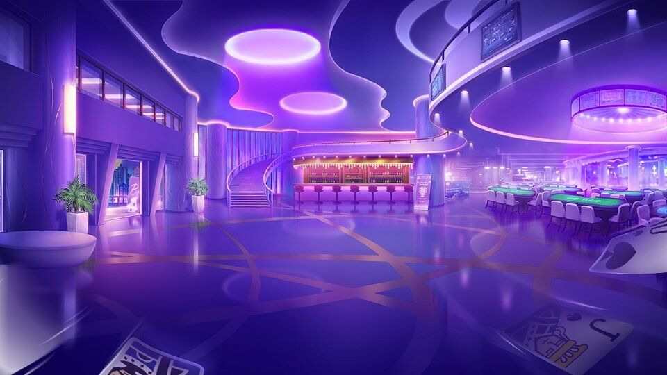 scenery gambling games anime