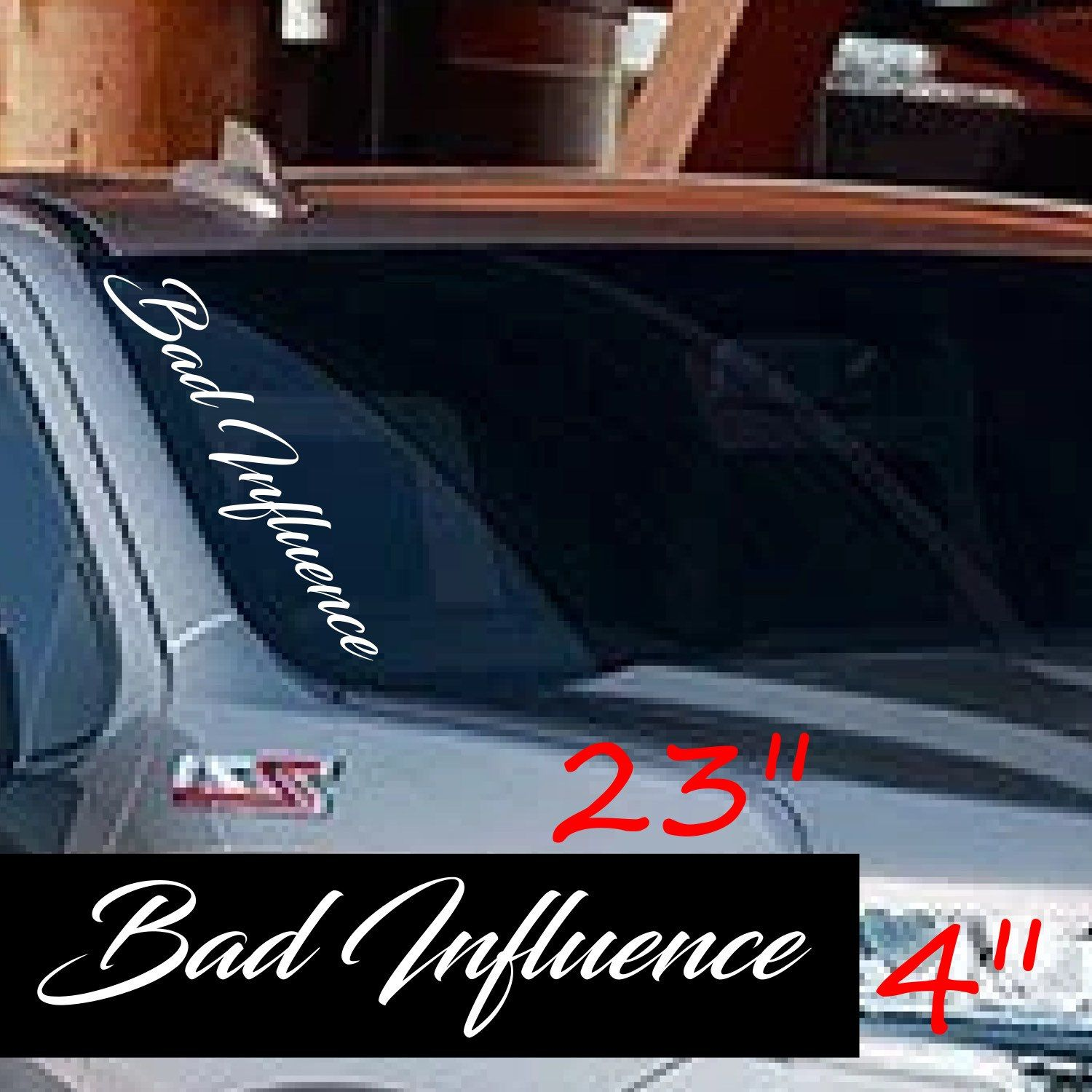 Bad Influence Decal Pillar Windshield Tundra Chevy Ford Etsy Truck Window Stickers Windshield Truck Decals [ 1500 x 1500 Pixel ]