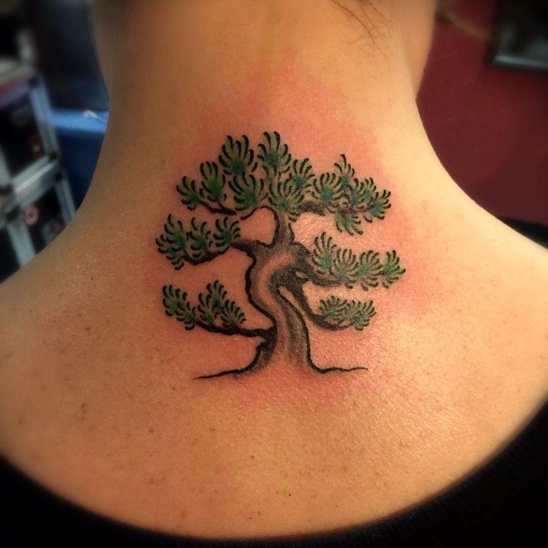 Small Bonsai Tattoo: Bonsai Tree Tattoo #bonsai