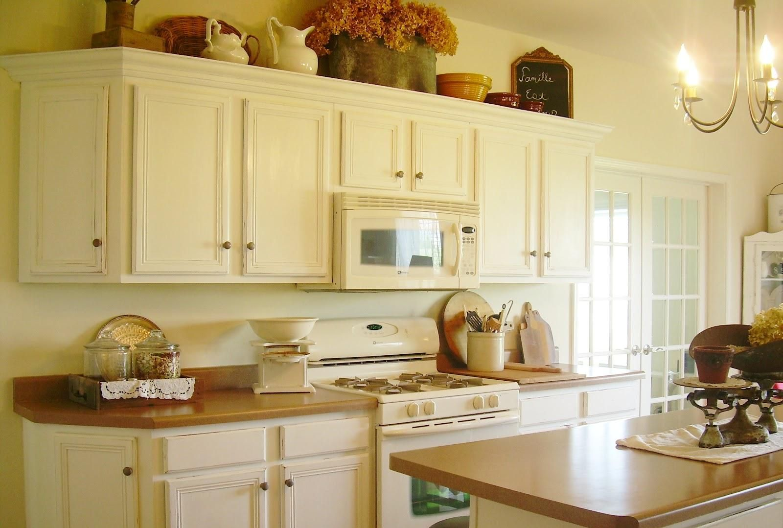 White Cabinets Brown Counters  Kitchen Ideas  Pinterest Alluring Chalk Painting Kitchen Cabinets Design Decoration