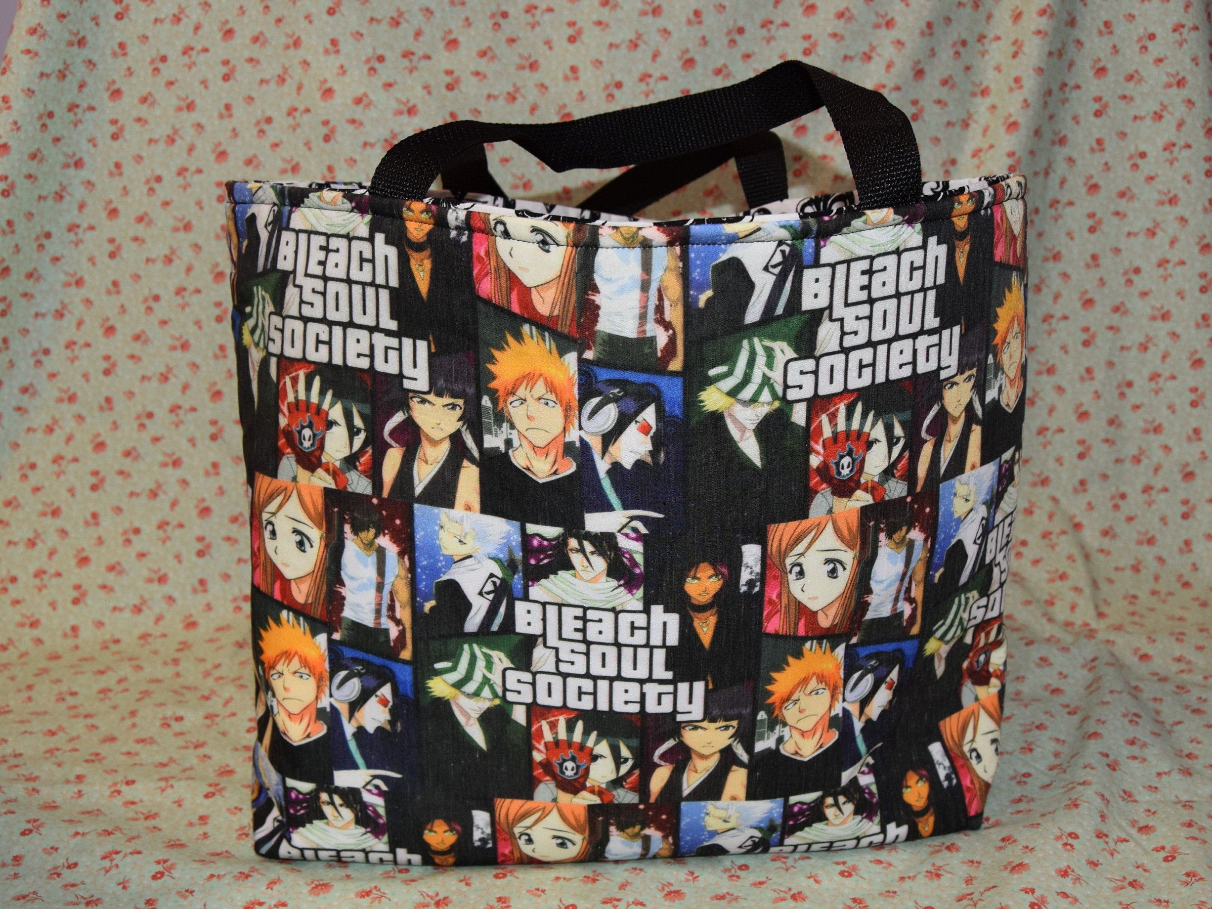 Bleach soul society animemanga themed tote bag perfect