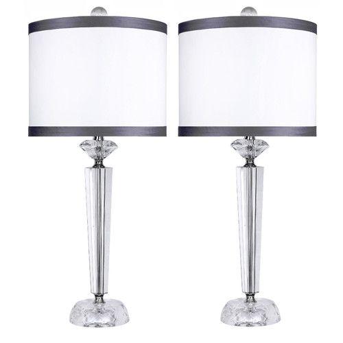 Found It At Wayfair Genuine Crystal 25 75 Table Lamp Set Of 2 Crystal Table Lamps Lamp Sets Lamp
