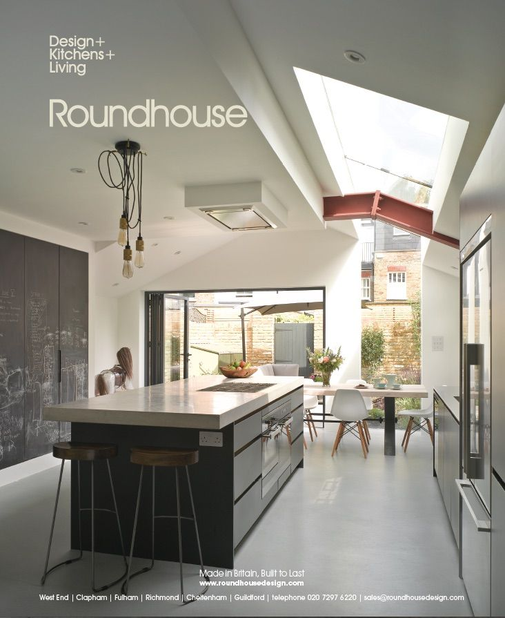 Roundhouse Urbo luxury bespoke family kitchen with custom made ...