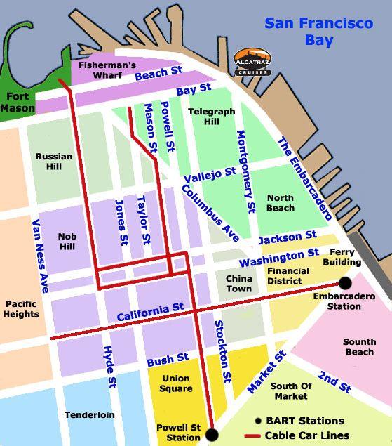 San Francisco Cable Car Map Road Trip San Francisco Cable Car