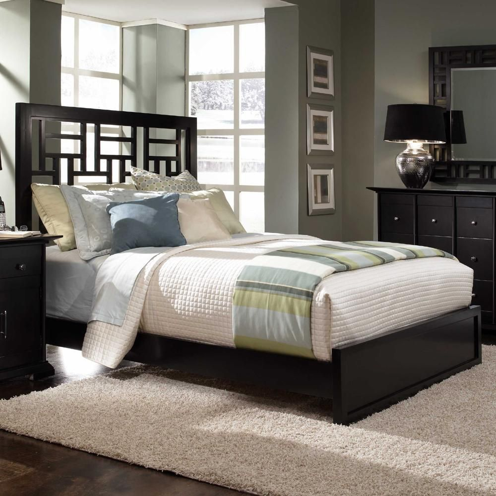 Perspectives King LowProfile Lattice Bed by Broyhill
