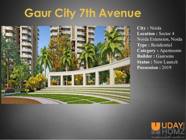 Gaur City is newly launched by Gaursons India which is located in Sector 4 Noida Extension Noida.