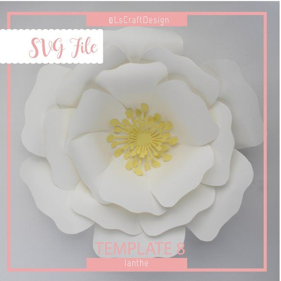 svg paper flower paper flower template giant paper flower template