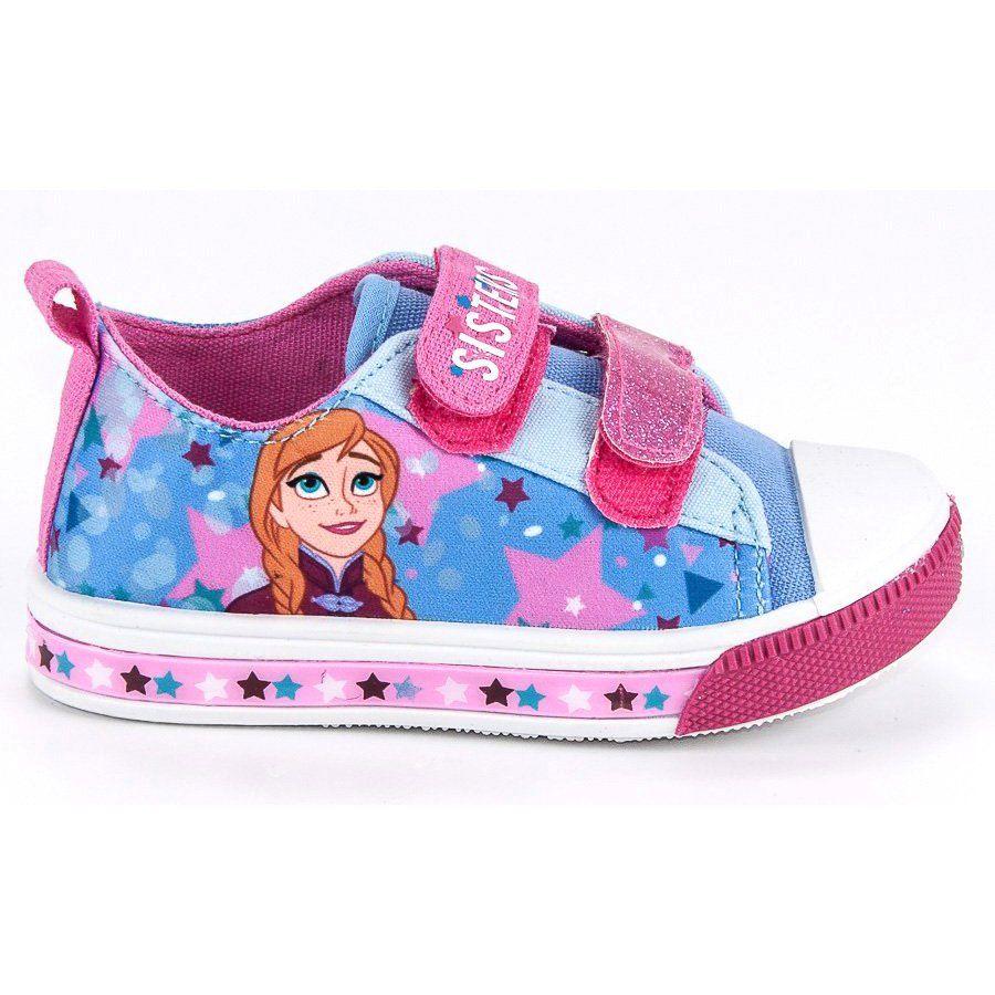 Buty Sportowe Dzieciece Dla Dzieci Butymodne Niebieskie Rozowe Trampki Na Rzep Kraina Lodu Butymodne Winter Shoes Baby Shoes Shoes