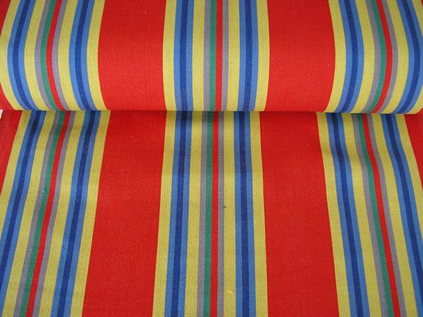 retro deckchair striped fabric red yellow blue stripes. Black Bedroom Furniture Sets. Home Design Ideas