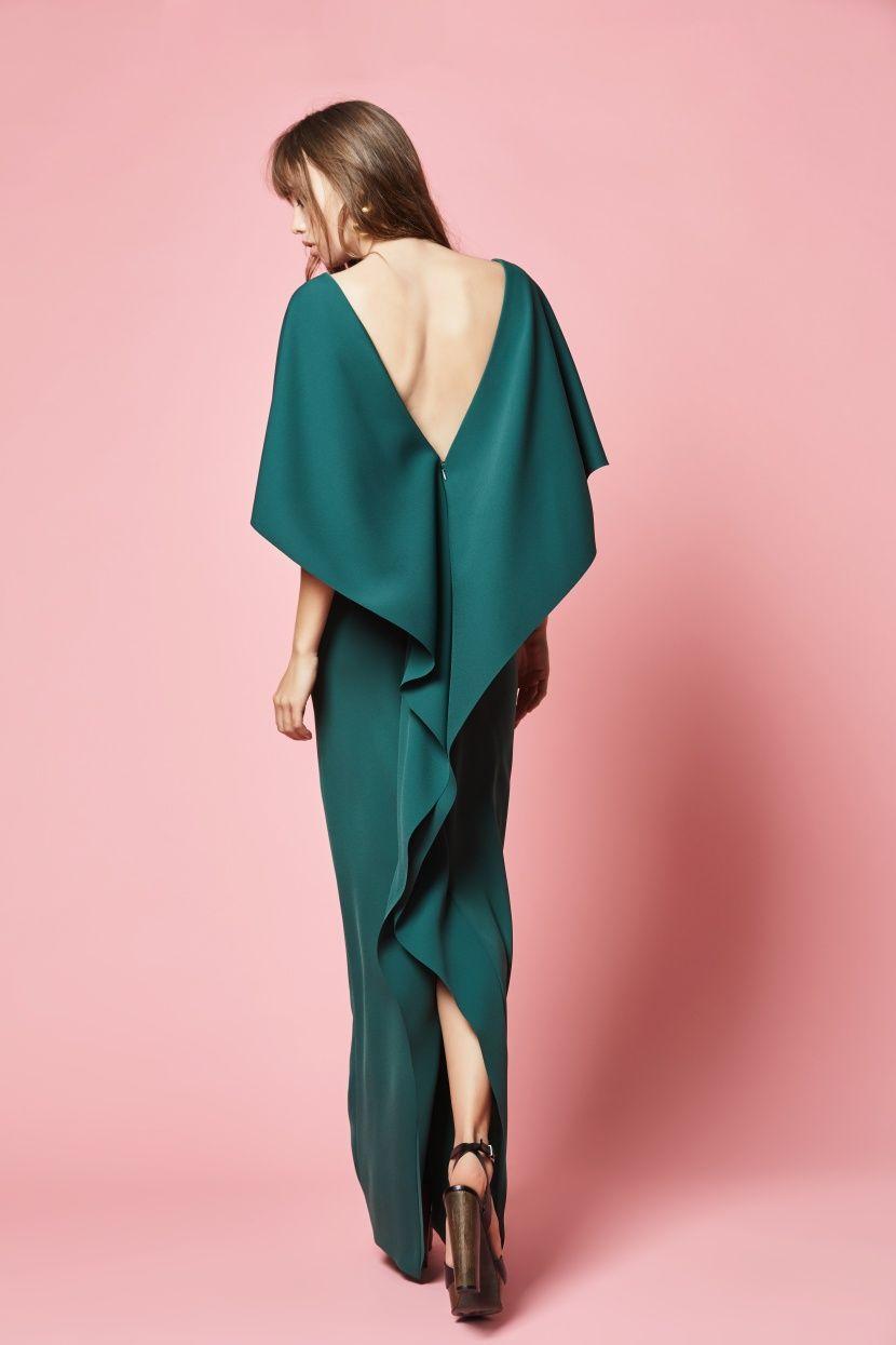 Vestido largo de fiesta. Modelo CAPELA verde Etxart&Panno Tienda ...