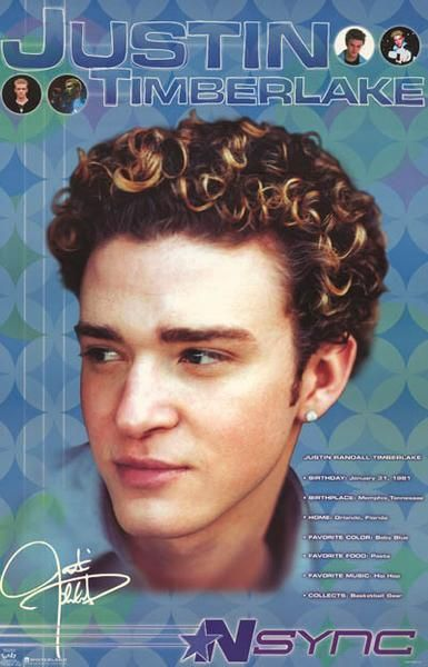 Nsync Justin Timberlake 2000 Portrait Rare Original Poster In 2019