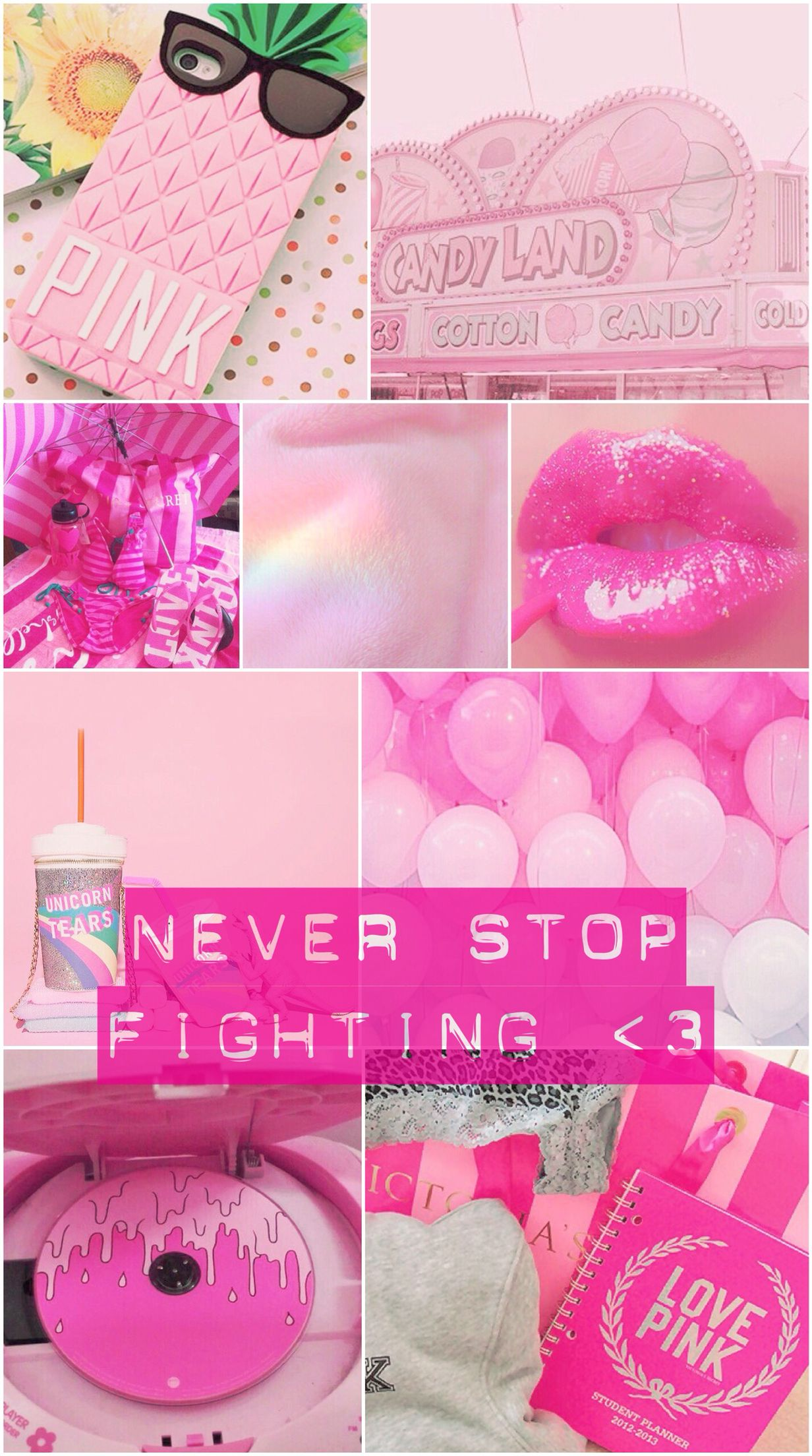 wallpaper, background, pink, quote, iPhone, hot pink, cute