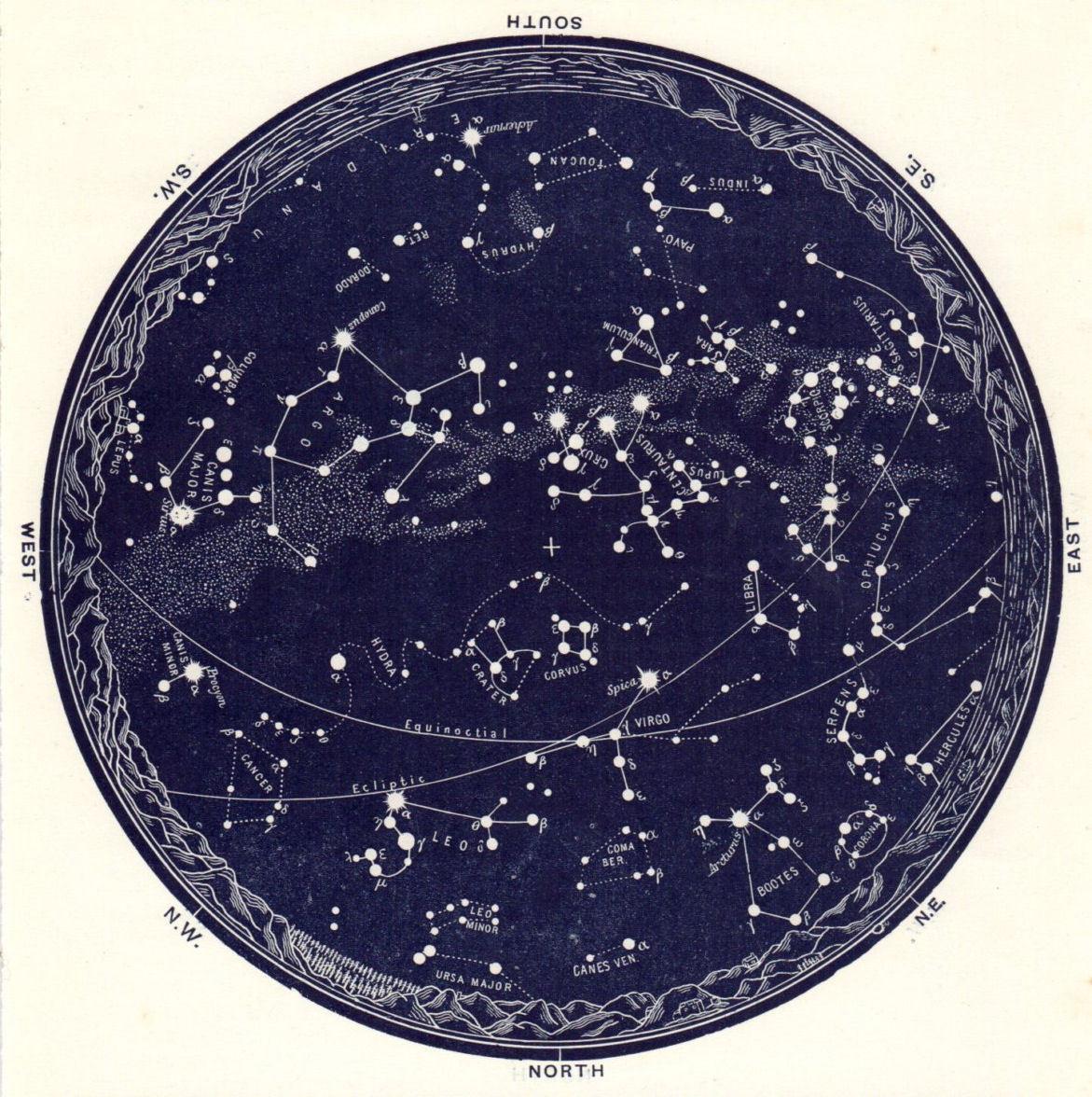 12u00 X 12u00 Poster U00 Vintage Star Map Of