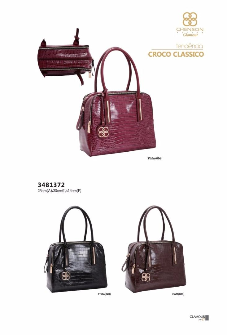 7a5d06968 Bolsa Chenson 3481372 - croco clássico - Bergamoda Bolsas e Acessórios