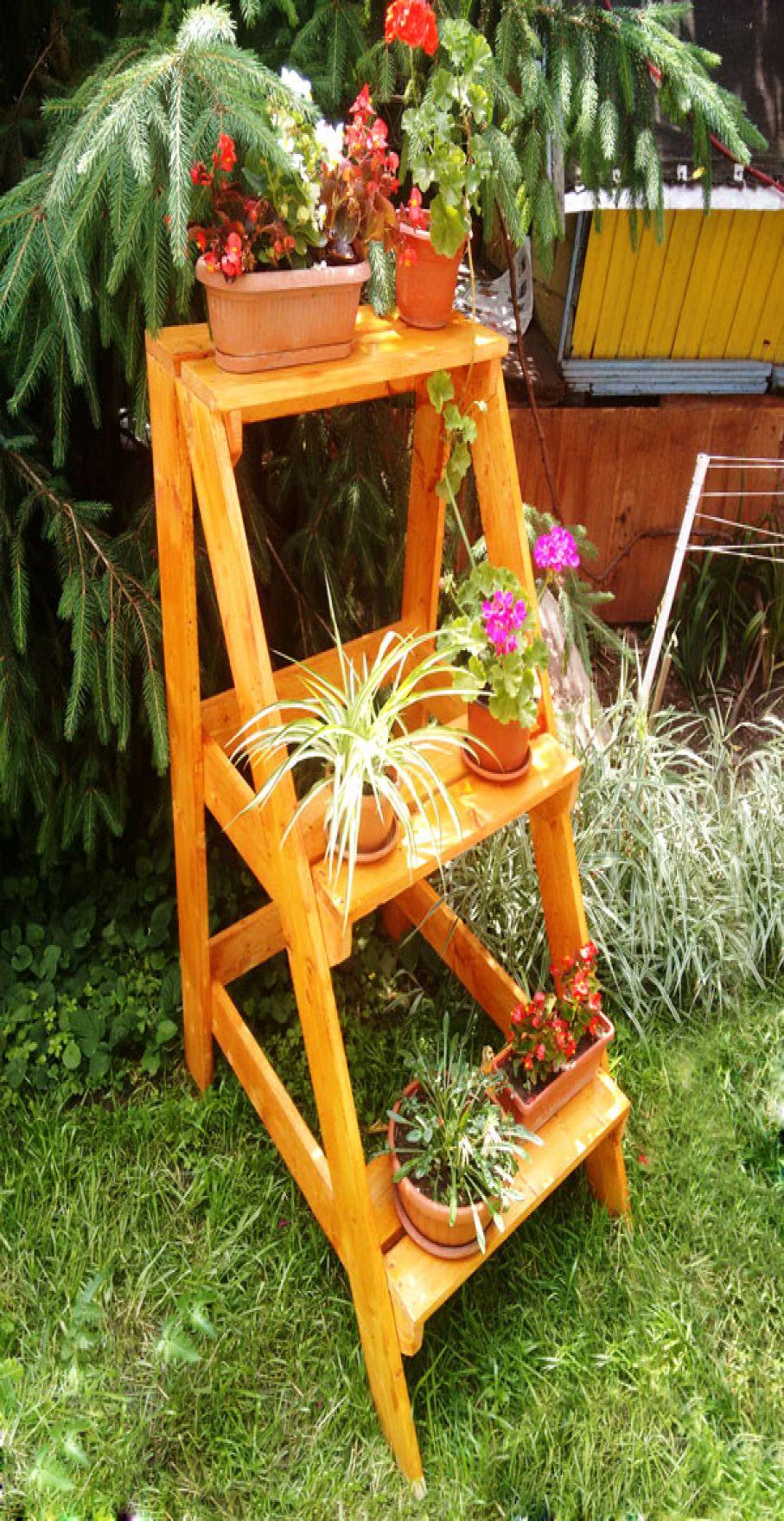 49 luxury ladder garden ideas for your backyard wooden