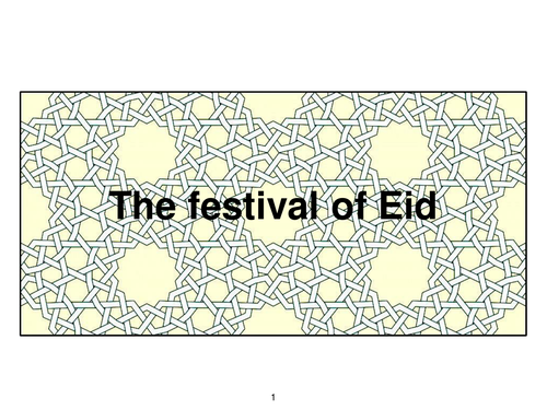 School Assembly Presentation For Ks1 On Eid Al Adha Teaching Resources School Assemblies Eid Al Adha Eid