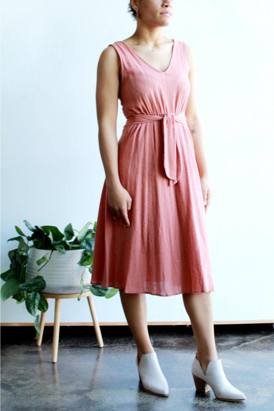Katy Midi Dress In Brick Ecovibe Dresses Middy Dress Midi Dress [ 1350 x 900 Pixel ]