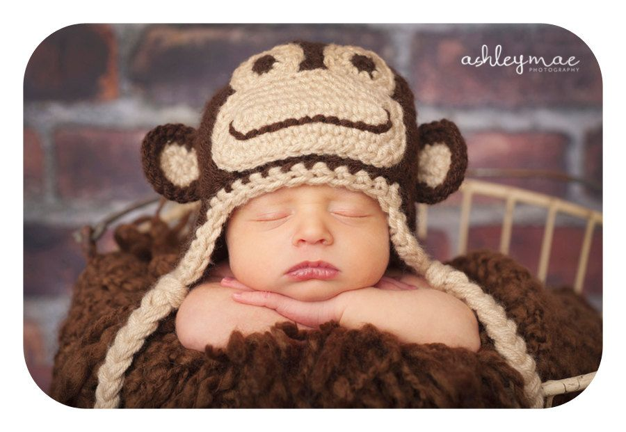 Pdf Marvin The Monkey Hat Crochet Pattern In 5 Different Sizes For
