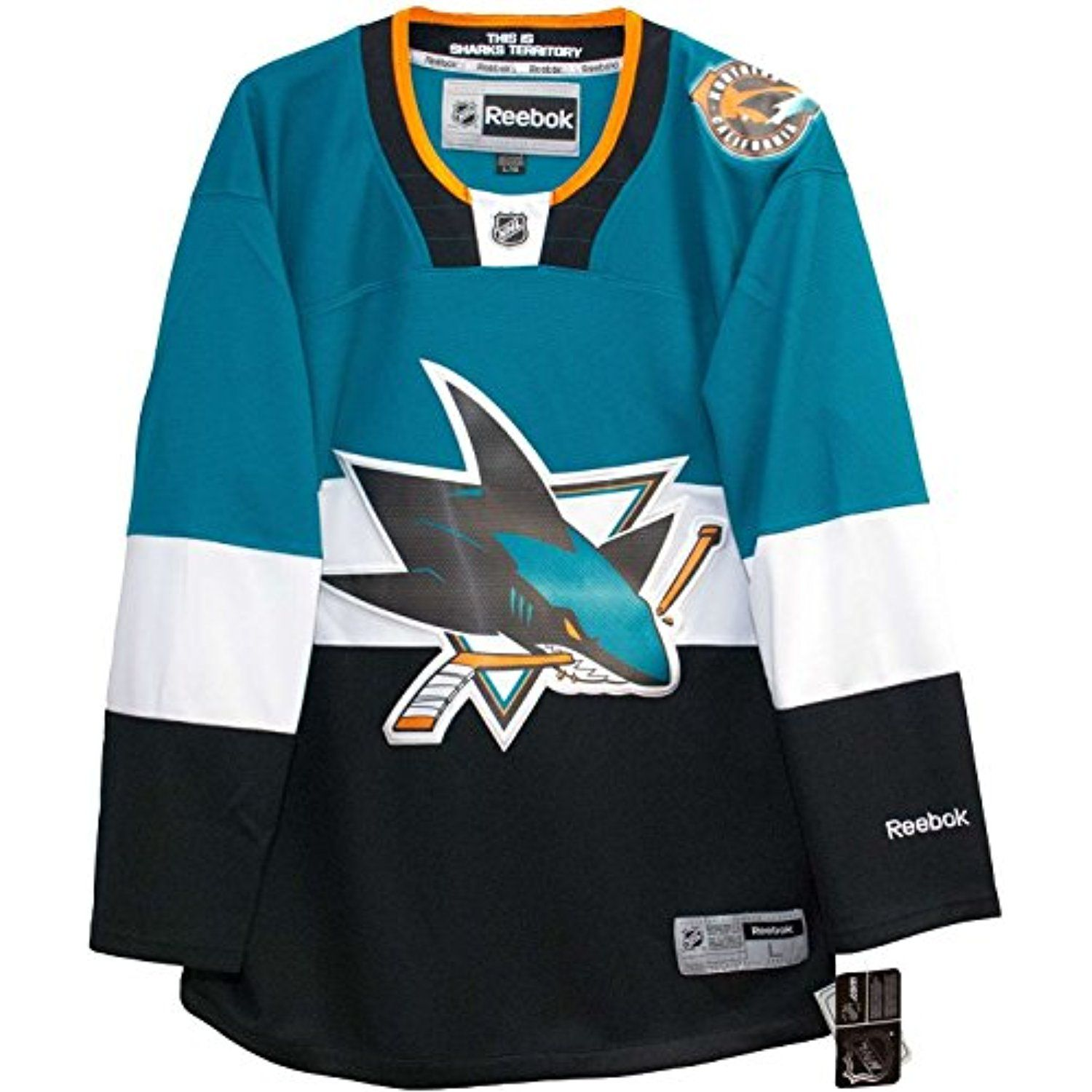 San Jose Sharks Blank Teal Black NHL Youth Reebok Premier Stadium Series  Jersey     You can find out more details at the link of the image. 3877527b2