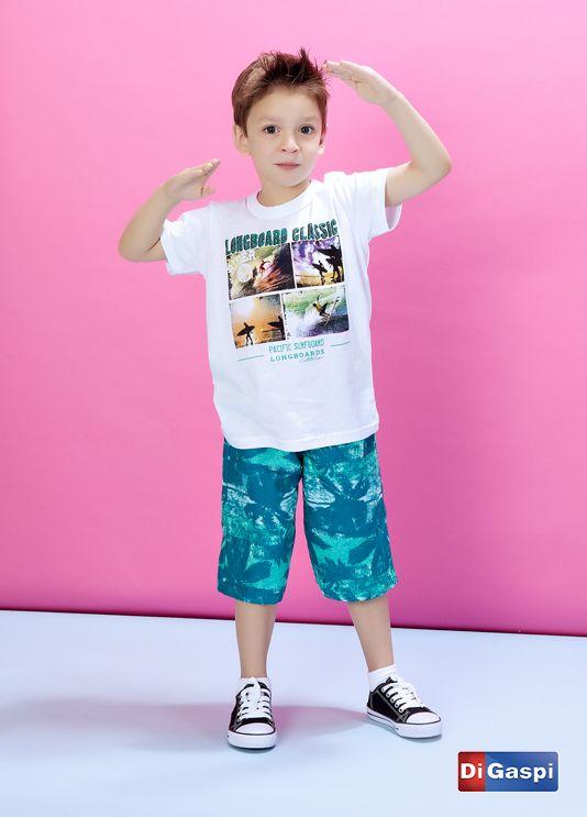 Kids Collection 2015 | Children's day | shorts | t-shirt | camiseta estampada | boy shoes | moda infantil | bermuda | camiseta |