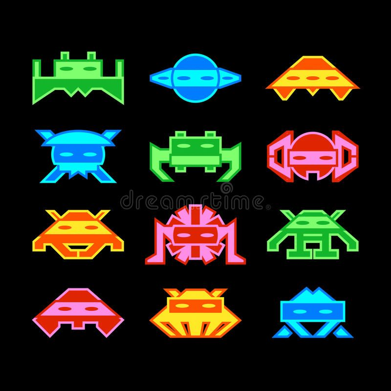 Space Invaders Custom Designed Space Invaders Similar To Old Arcade Game Aff Custom Designed Space Invaders Space Invaders Game Design Illustration