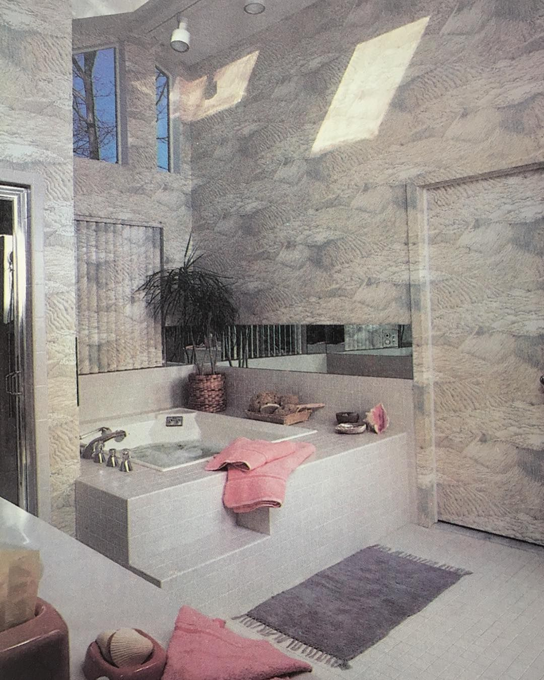 """A Bath Of Soft, Soothing Colours - """"The abundance of tile and window glass in th A Bath Of Soft, Soothing Colours - """"The abundance of tile and window glass in th...-#*"""