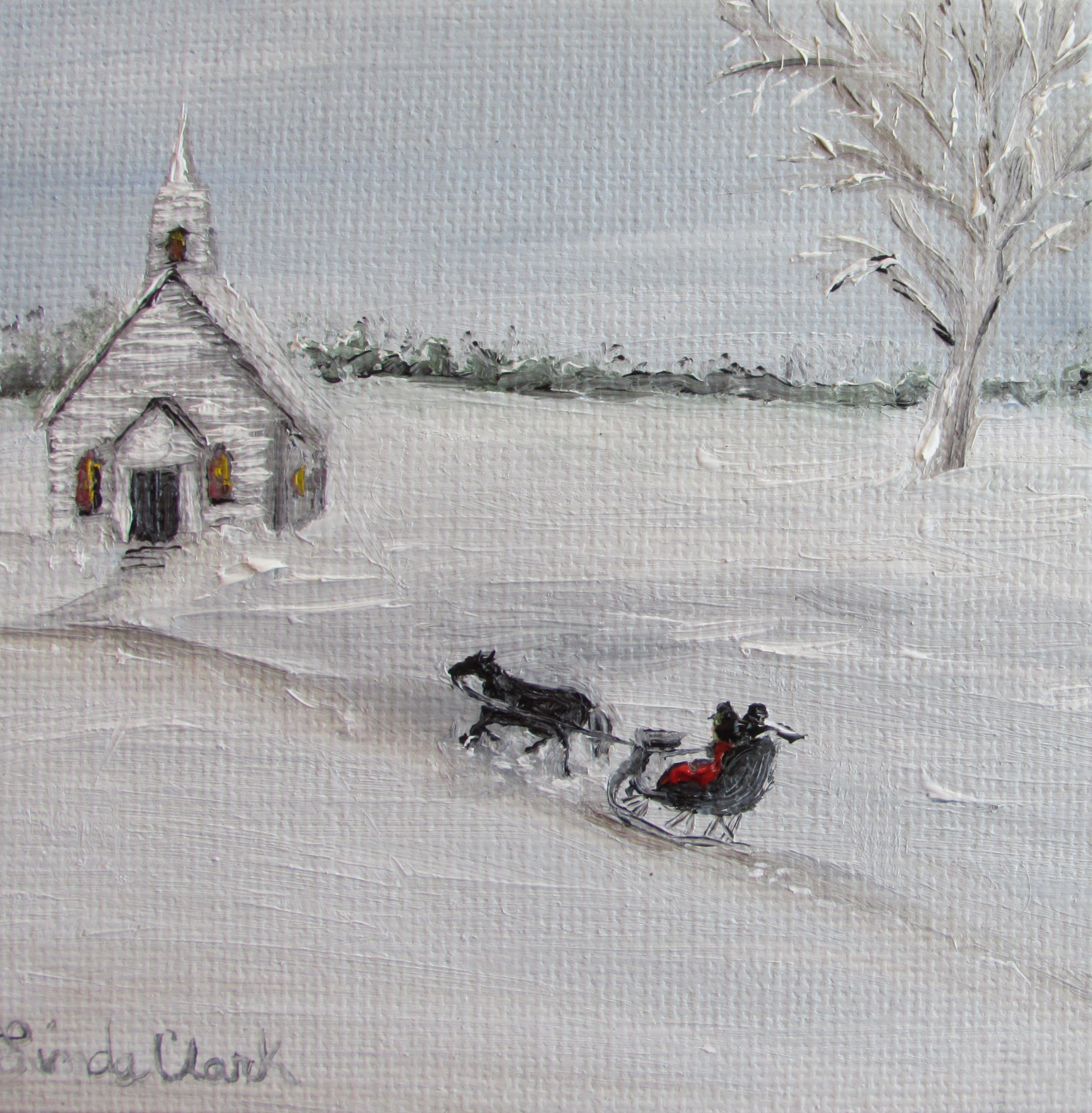 """Little White Church"" by Linda W Clark  www.creativeworksoflindaclark.com  https://www.facebook.com/CreativeWorksofLindaClark?ref=tn_tnmn"