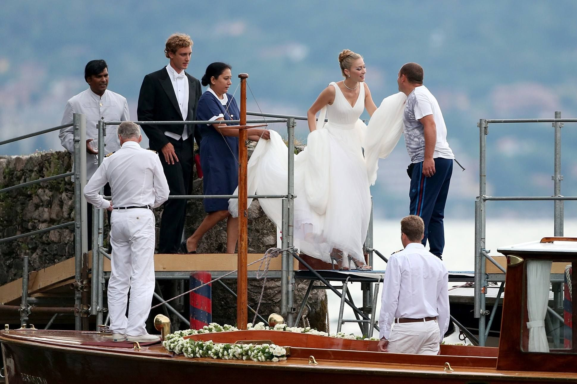 Pierre and Beatrice Casiraghi Religious Wedding Ceremony in Stresa on the Lake Maggiore in northern Italy on August 1, 2015