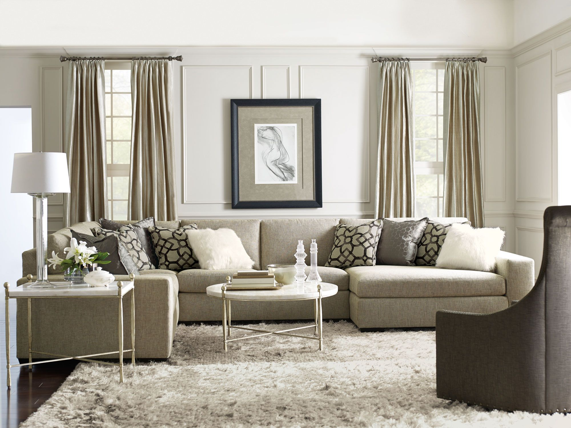 Maurice Orlando Clarion Living Room  Bernhardt  Home Sweet Home New Living Room With Sectional Design Ideas