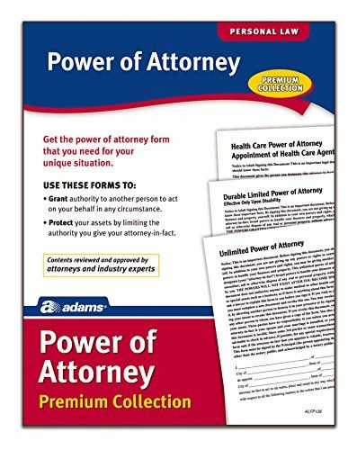 Adams Power Of Attorney Forms Pack Includes Forms And