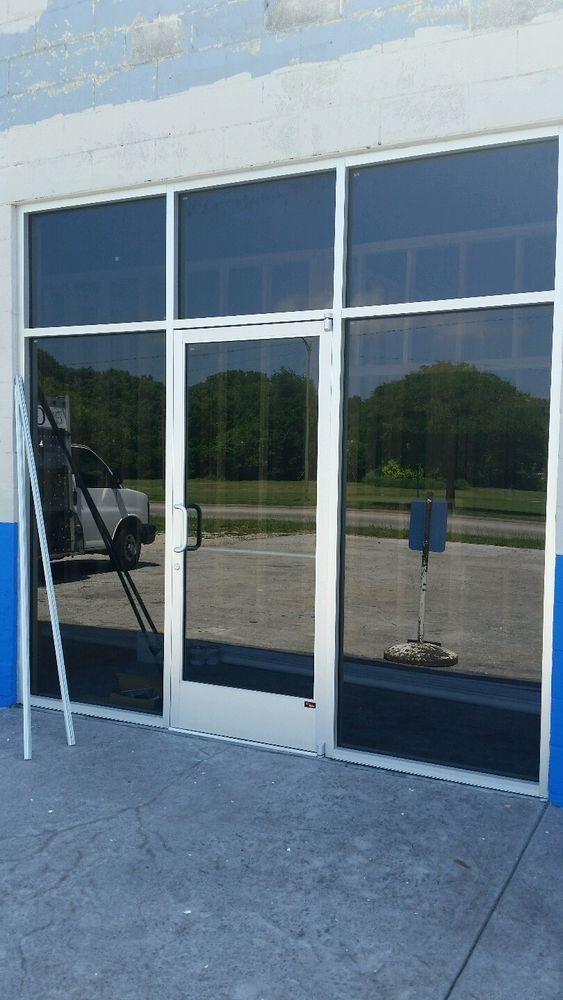 Commercial Aluminum Storefront With Door For Replacement Of 10 Garage Door Ebay Garage Doors Storefront Doors Garage Door Types