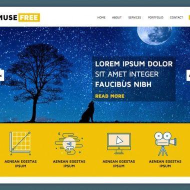 Adobe Muse Template Muse Adobe Pinterest Adobe Template And - Adobe muse website templates