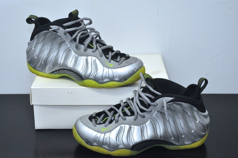 wholesale dealer a0f00 85bda 575420 004 Nike Air Foamposite One PRM Premium Metallic Silver Camo Volt  Size 12  Nike  BasketballShoes