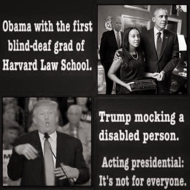 Truth trump obama mocking disabled people