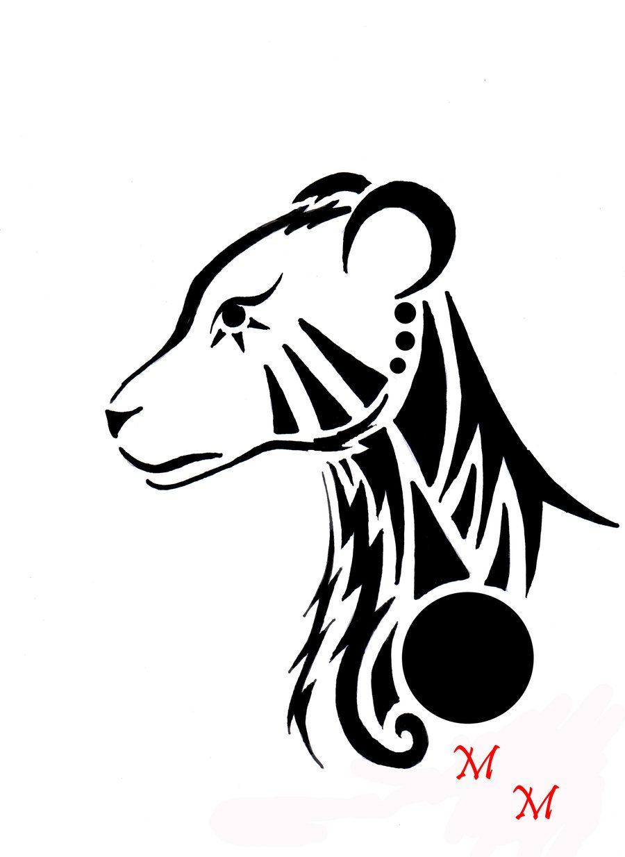 tribal lioness by mikaylamettler deviantart com on deviantart [ 900 x 1234 Pixel ]