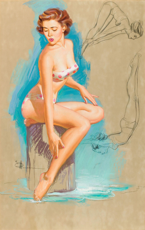 "Knute O. ""K.O."" Munson (1900-1967) – Classic American Pin Up Artist."