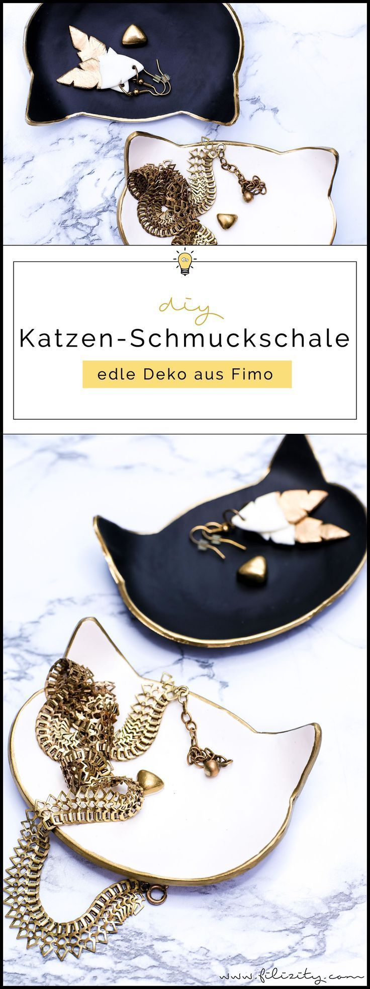 Photo of DIY mit Fimo: Katzen-Schmuckschalen selber machen | Filizity.com | DIY-Blog aus dem Rheinland
