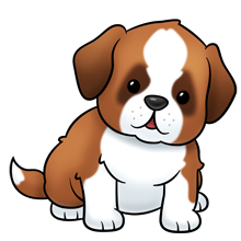 saint bernard dog lots of clip art on this site animals rh pinterest com puppy clipart black and white puppy clip art images