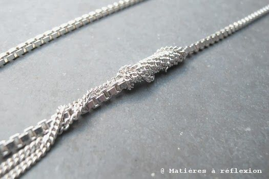 FINESSE //  @ www.matieresareflexion.com #collier #AdelineCacheux #argent925 #chaines #silver #necklace